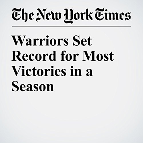 Warriors Set Record for Most Victories in a Season audiobook cover art
