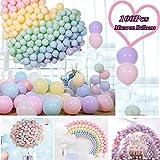 JWTOYZ Luftballons Pastell, 100pcs 12' Luftballons Bunt, Ballons Pastell Macaron, Luftballons...