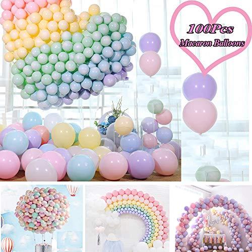 "JWTOYZ Luftballons Pastell, 100pcs 12\"" Luftballons Bunt, Ballons Pastell Macaron, Luftballons Pastellfarben Mixfür HochzeitGeburtstagsparty Babyparty Valentinstag Dekoration"