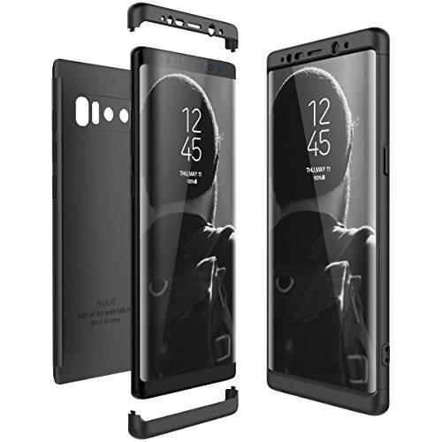 CE-Link Funda Samsung Galaxy Note 8, Carcasa Fundas para Samsung Galaxy Note 8, 3 en 1 Desmontable Ultra-Delgado Anti-Arañazos Case Protectora - Negro
