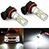 JDM ASTAR Bright White PX Chips H11 LED Fog Light Bulbs with Projector