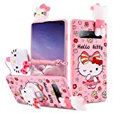 HIKERCLUB Galaxy S8 Plus Case Hello Kitty 3D Cartoon Case with Pop Out Stand Grip Holder and Detachable Long Lanyard Neck Strap Band Soft Lovely Case for Children Kids Girls (Hello Kitty, S8 Plus)