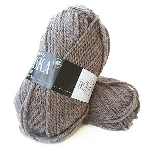 Ovillo de lana 100 % estampadas, Alaska, 4 – Mediano, Aran, 1.8 oz – 77 yardas