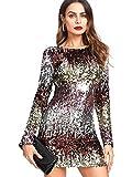 DIDK Vestidos de Fiesta para Mujer Vestidos con Lentejuelas de Moda para Mujer Faldas Atractivas de Noche