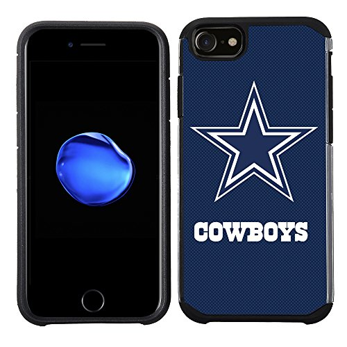 Prime Brands Group Cell Phone Case for Apple iPhone 8/ iPhone 7/ iPhone 6S/ iPhone 6 - NFL Licensed Dallas Cowboys Textured Solid Color, Model: NFL-TX1-i8-COWB
