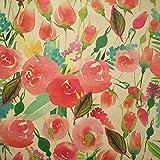 Staab's Beschichtete Baumwolle Dekostoff Bunte Blüten