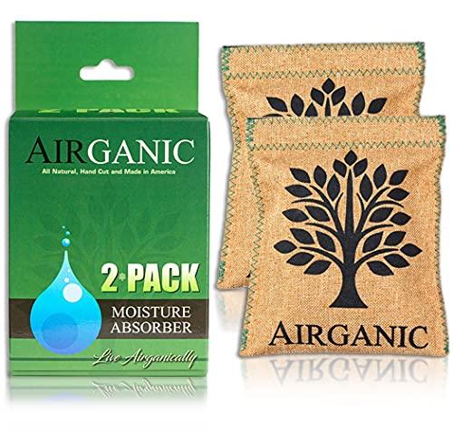 Airganic Safe, Car, Closet, Gun Safe Dehumidifier - Made of Natural Minerals & Plants Moisture Absorbers - Mini Dehumidifier Small - RV, Home, Storage, Shoe - Kid & Pet Friendly (2 Pack)
