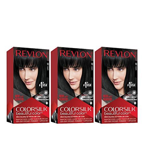 Revlon ColorSilk Tinte de Cabello Permanente Tono #10 Negro