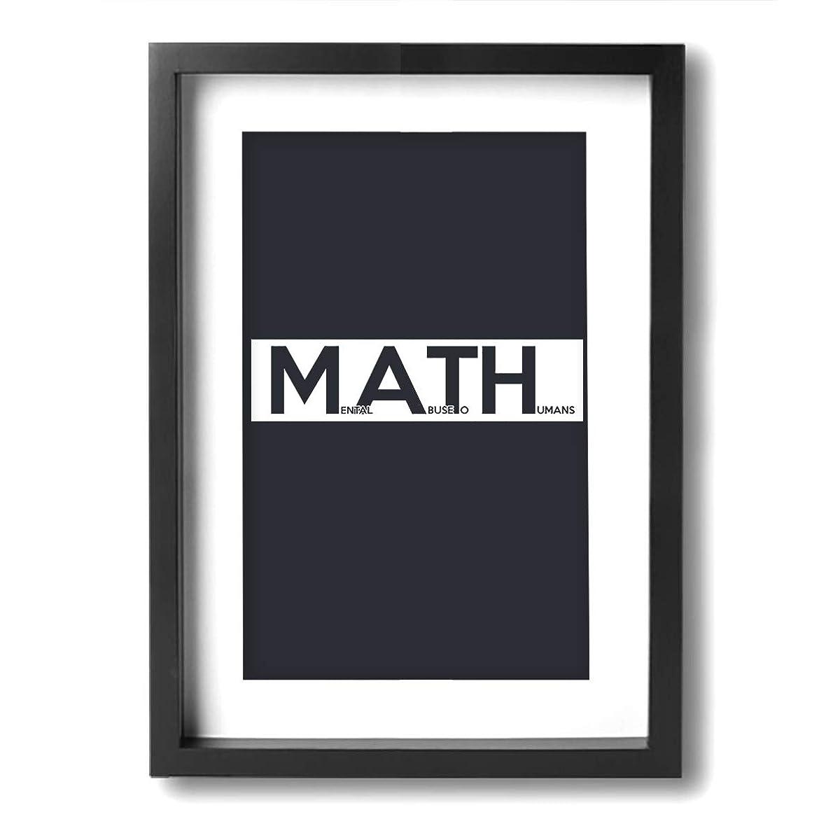 芸術的狂気驚いたことに数学 電卓 壁の芸術 ソファの背景絵画 壁キャンバス絵画 リビングルーム 木枠付きの完成品 贈り物に ウォールアート 軽くて取り付けやすい(木枠付24x33cm)