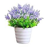 jinyi2016SHOP Plantas Artificiales Artificial Flores de la Lavanda Mini Flores Artificiales Falso Planta for alegrar su Fiesta en casa y decoración de la Boda Planta Falsa (Size : Small)