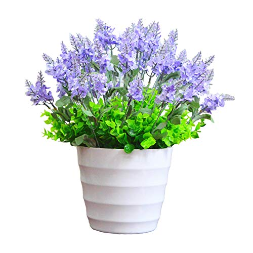 CJshop Artificial Plants Artificial Lavender Flowers Mini Artificial Flowers Fake Plant to Brighten Up Your Home Party and Wedding Decor Faux Plants Décor (Size : X-Large)