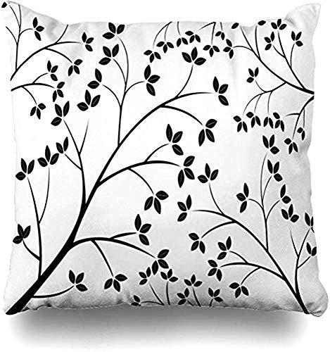 ASDEW987 - Federa per cuscino, motivo botanico a righe, con motivo a righe, struttura a molla, resistente