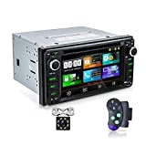 "Car Stereo in-Dash DVD Player Double Din for Toyota, 6.2""LCD HD Touchscreen Bluetooth Audio/Hands-Free Calling FM/MP3/CD/DVD/SD/USB/AUX in/Mirror Link with Backup Camera+SWC"