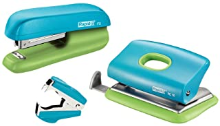 Rapid Mini Stapler F5 and Punch Set, Blue/Green