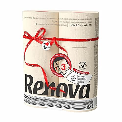 Renova Red Label Maxi Toilet Paper, Nude
