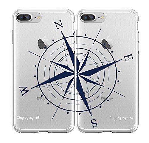 Shark Best Friends Style/Boyfriend&GirlfriendCompass/ STAY BY MY SIDE Matching Couple Cases for (One case for iphone 6&One case for iphone 7)