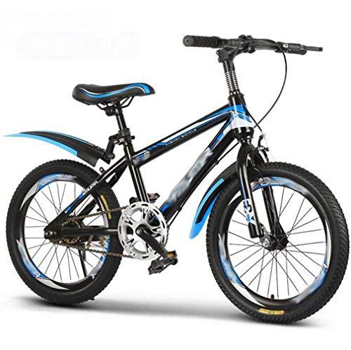 COUYY Bicicletta per Bambini velocità variabile velocità Medio e Grandi Bambini da 18 Pollici da 20 Pollici da 22 Pollici Bicicletta da 22 Pollici 7-8-9-9-10-12-15 Anni,Blu,22 Inches