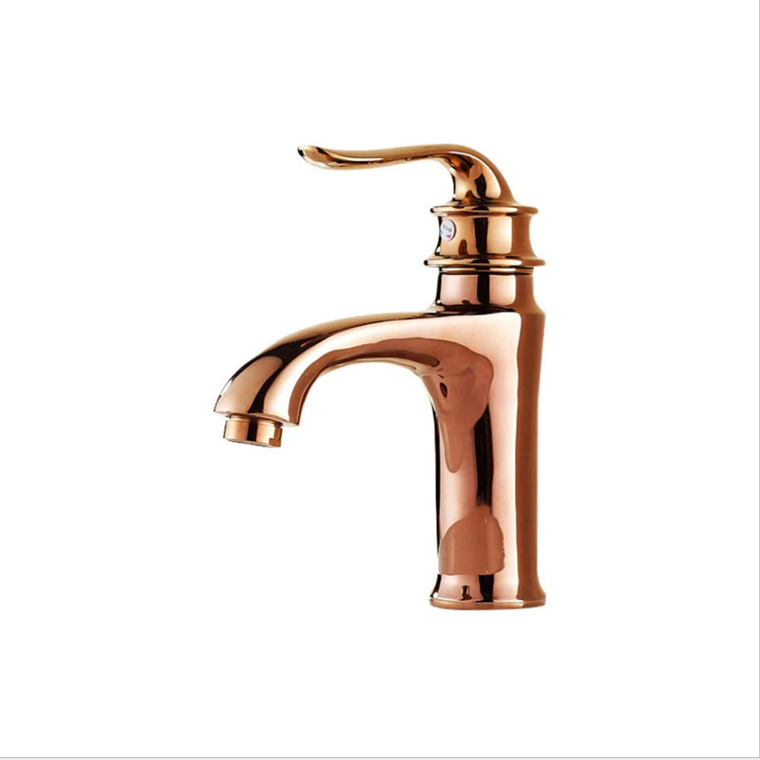 Faucet All Copper Basin Basin hot and Cold Water Faucet European high-end pink gold Faucet