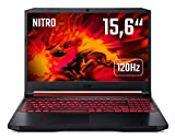 Acer Nitro 5 (AN515-54-55UY) 39,6 cm (15,6 Zoll Full-HD IPS 120 Hz matt) Gaming Laptop (Intel Core i5-9300H, 8 GB RAM, 512 GB PCIe SSD, NVIDIA GeForce RTX 2060, Win 10 Home) schwarz/rot