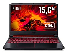 Acer Nitro 5 (AN515-54-55UY) 39,6 cm (15,6 Zoll Full-HD IPS 120 Hz matt) Gaming Laptop (Intel Core i5-9300H, 8 GB RAM, 512 GB PCIe SSD, NVIDIA GeForce RTX 2060, Win 10 Home) schwarz/rot © Amazon