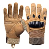 Bectim Airsoft Gloves Men Tactical Gloves for Hiking Cycling Climbing Camping Outdoor Sports (Not Compatible with Touch Screen) (Desert, M)