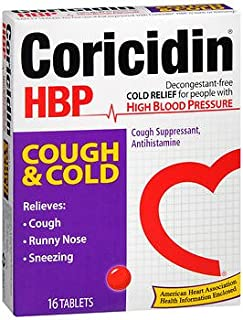 Coricidin HBP Cough & Cold Tablets - 16 Tablets, Pack of 3