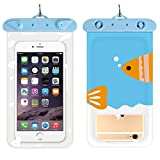 Swimbag Universal Waterproof Case Transparent PVC Waterproof Phone Pouch Dry Bag Protect iPhone X 8 7 6S Plus SE, Galaxy S6 S7, LG G5 and More (Cartoon Fish)