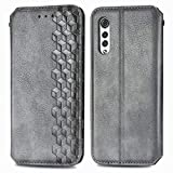 TOPOFU Funda LG Velvet 5G, Carcasa Flip Leather Wallet Case, Funda de Cuero PU Premium Carcasa para LG Velvet 5G (Gris)