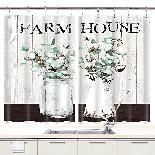 Farmhouse Kitchen Curtains, Farm...