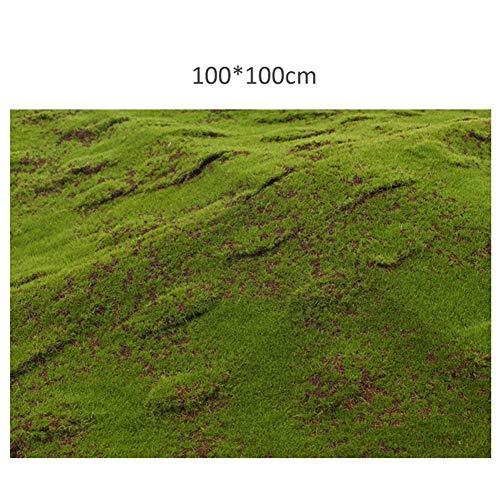 Planta de césped falso césped artificial terraza, 1 M x 1 M Césped de musgo artificial Plantas de simulación de jardín Boda Interior Decoración de ventanas al aire libre