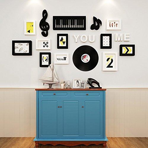 Cadre décoratif Ensembles simples de mur de cadre de photo de 10, suspension créative de salon de combinaison de cadre de mur Ensembles de peinture décorative de mur de photo d'enfant fixés ( Couleur : A )