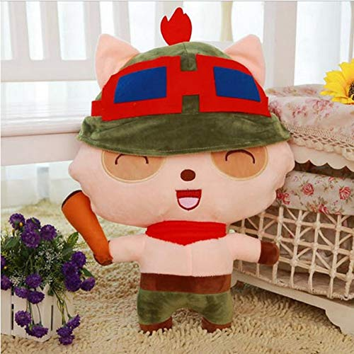 Hanyyj Peluches LOL League Peluches Muñeca LOL Teemo Dolls The Swify Scout Peluches Peluches para Niños Regalos 20Cm