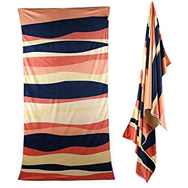 Isla Azul Microfiber Beach & Travel Towel by Quick Dry, Ultra Light, Compact, Super Absorbent, and Soft; Great for the Beach, Pool, Gym, Yoga, Backpacking and Travel (Sunset)