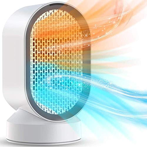 Portable Electric Fan Heater, Riscaldatore Di Ambienti In Ceramica Ventola 2S Riscaldamento Rapido Termostatico, Protezione Contro Il Surriscaldamento 2 Modalità for Casa / Ufficio / Camera Da Letto