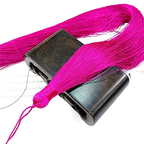 1 Uds Borla de Seda de Gran Longitud 50cm Flecos embellecedores artesanales borlas Cepillo Cortinas de Costura Accesorios de joyería DIY decoración de boda-18 Rosa roja