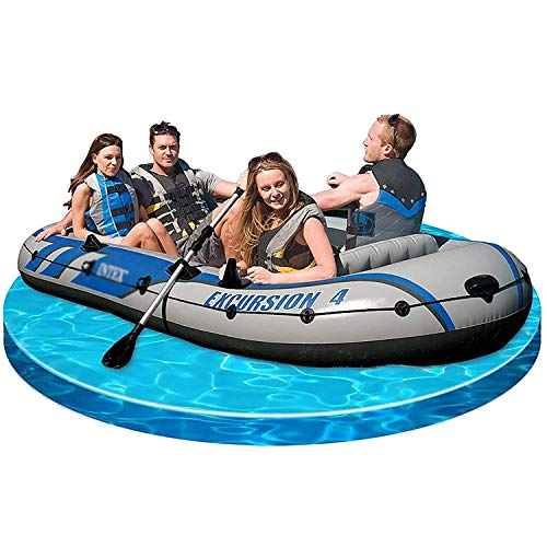 Best Price YANJ 3 Person Inflatable Boat Set with Aluminium Oars and High Output, 262 157cm, Depth: ...