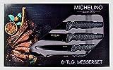 Michelino - 6-teiliges Messerset/Chefkochmesser/Kochmesser-Set (Carbon)