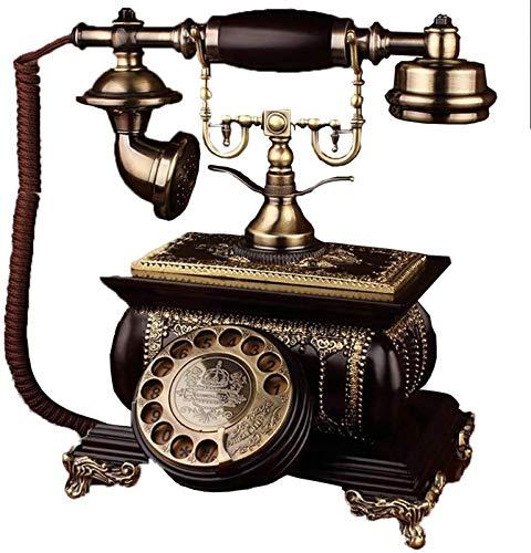 Línea fija retro Teléfono de estilo antiguo Dial Rotary Landline Fashioned Teléfono con cable con cuerpo de resina para Decoración de Hogar RotaryDialing Teléfono decorativo ( Size : Rotarydialing )