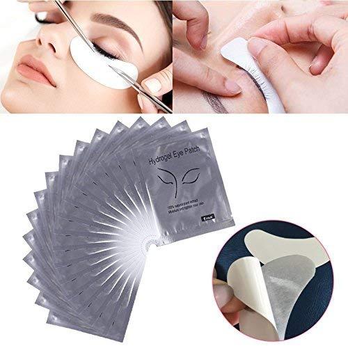 30 Paires Patchs Pour Extensions de Cils Gel, Gel Yeux Patchs Cils Pad Patch Oculaire Dédié Aux Cils pour Coloration Lash Extension Cils Outil de Maquillage de Beauté(Arent)