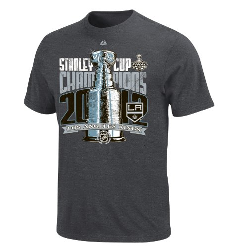 NHL Los Angeles Kings Official 2012 Stanley Cup Champion Locker Room T-Shirt, Charcoal Heather, XX-Large