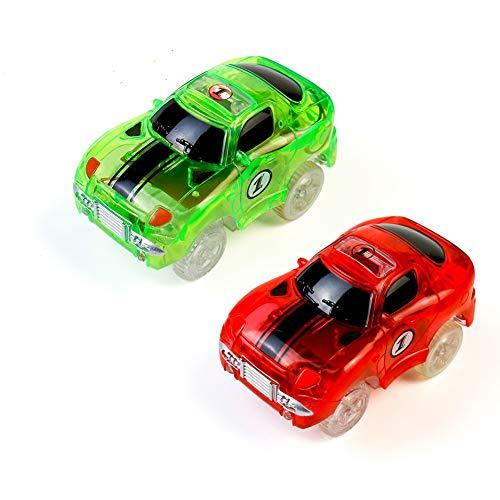 Fajiabao Auto Giocattolo Macchinine Giocattolo per Bambini Pista Cars Macchinine Auto Elettrica Bagliore nel Buio Traccia Regalo per Ragazza Ragazzo