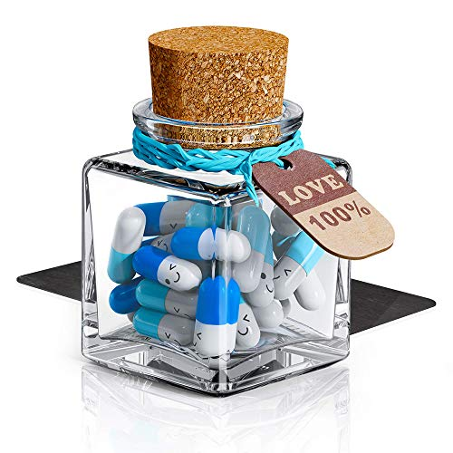 JOFUYU Valentines-Day Decorations Capsule Letters Message - Happy Pills Notes for Boyfriend...