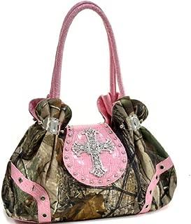 in Realtree Camouflage Camo Purse Studded Shoulder Bag Handbag with Rhinestone