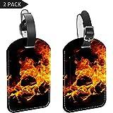 LORVIES Blaze Bonfire Burn - Etichette da viaggio per bagagli e bagagli, 2 pezzi