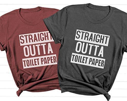 Deloach Couture Straight Outta Toilet Paper/Wash Your Hands/ Covan19 Shirt/Coronavirus Nurse Shirt/Funny Hygiene Shirt/Shirt for Mom/Toilet Paper Shirt Anti Virus Shirt/Size S-4XL