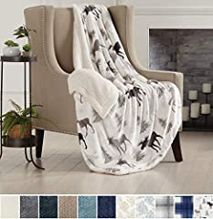 TOP QUALITY REVERSIBLE THROW BLANKET. Buttery, silky, smooth, sculpted velvet plush on the face side for a rich, luxurious, elegant look and feel. Backside features soft, cozy Berber to keep you warm and toasty. This is the ultimate winter bed blanke...