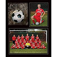 PLAY HARD SOCCER 7x5/3.50x5 MEMORY MATES cardstock double photo frame sold in 10's - 5x7 [並行輸入品]