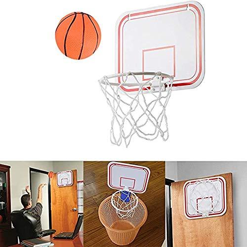 HYR88 Mini-Basketballkorb, hängender Basketballrahmen, klappbare tragbare Innenfederung Free Punch Mini-Kunststoff-Basketballrahmen für das Indoor-Training im Fitnessstudio