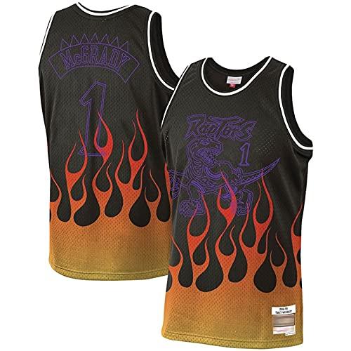 XXJJ McGrady Black Flame Edition - Sudadera (estilo años 90, talla XXL), color negro