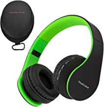 PowerLocus Wireless Bluetooth Over-Ear Stereo Foldable Headphones, Wired Headsets with..